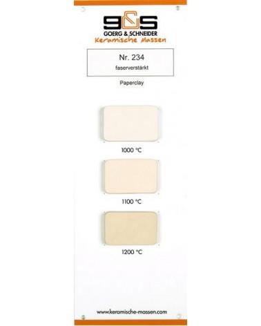 Paperclay 234 weiß-hellcreme Brennfarben