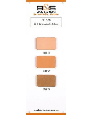 Ton 369 leicht schamottiert lachsfarben Brennfarben