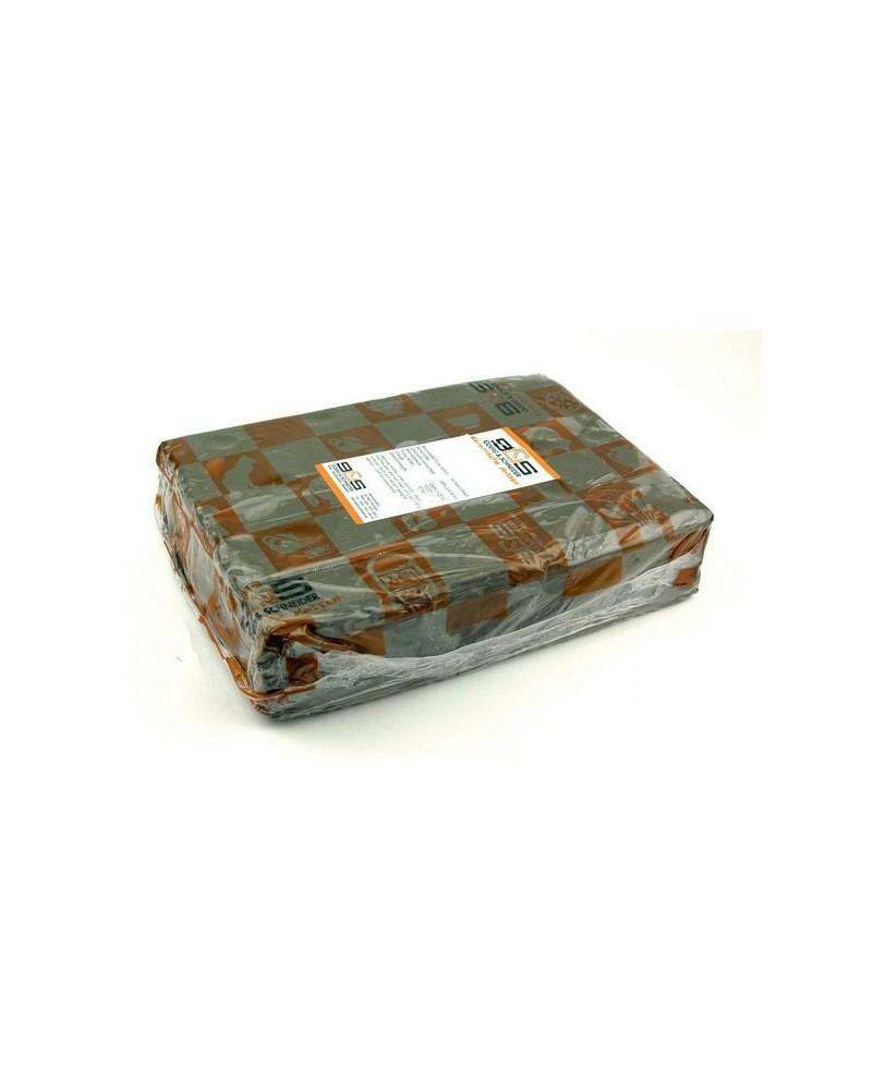 Klei 376, zwart-bruin, chamotte 30% 0,2-0,8mm   10 kg