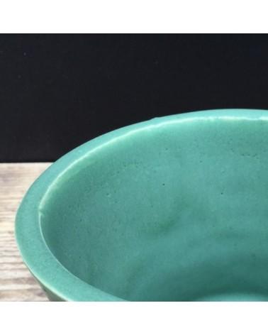 Kwastglazuur lindegroen + spikkels zijdemat 9103