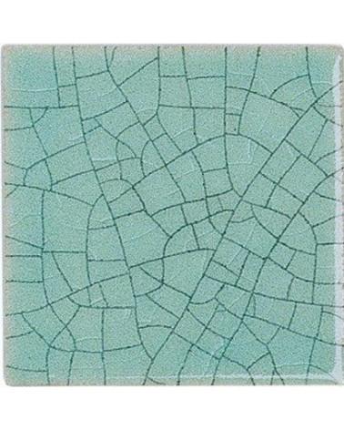 Kwastglazuur craquele turquiose glanzend 9352