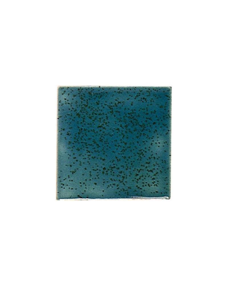 Kwastglazuur blauw-groen spikkel glanzend 9568