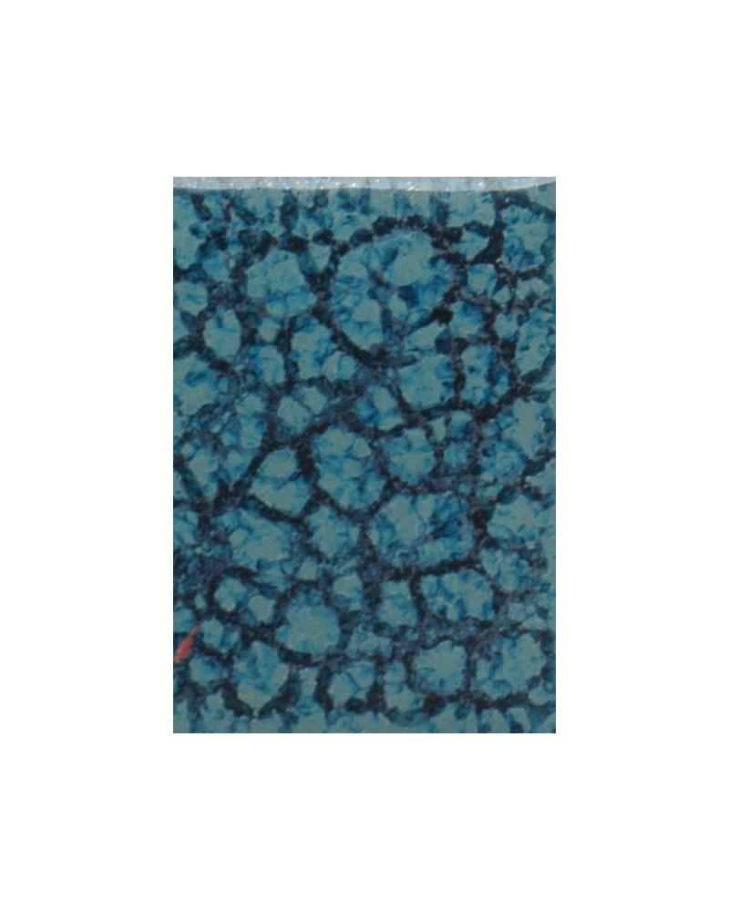 Aquamarijnblauw zijdeglans glazuur aardewerk