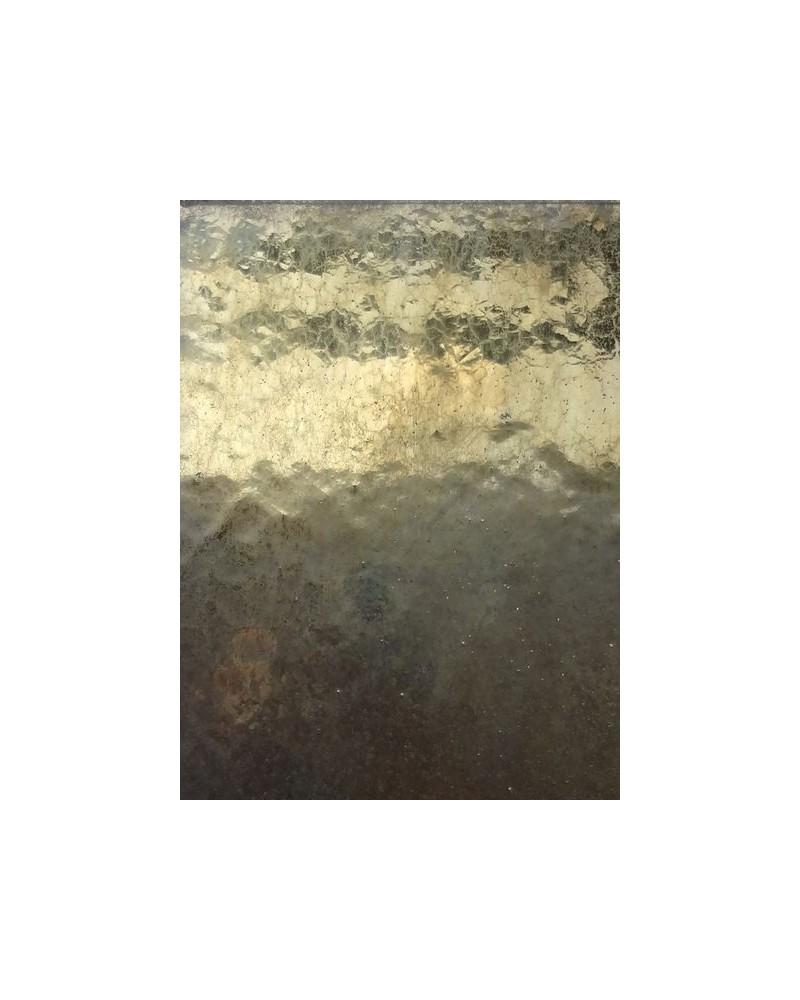 Bronsgoud zijdeglans glazuur aardewerk