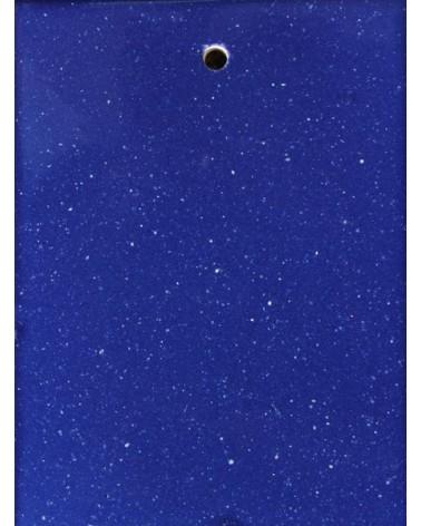 Kosmos blauw glans glazuur aardewerk