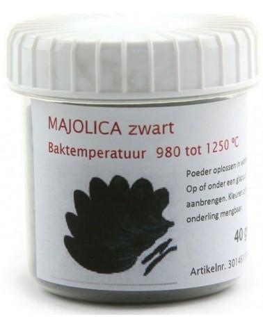 majolica zwart