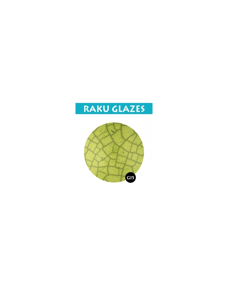 Geelgroen G15, 0,5 liter raku glazuur