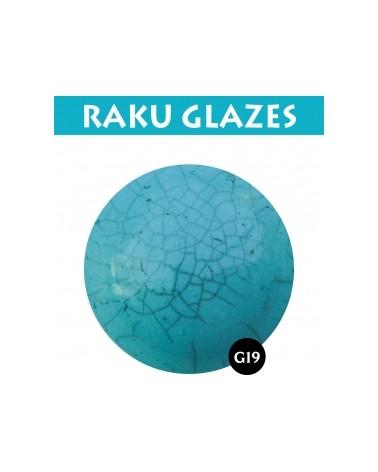 Turquoise G19, 0,5 liter raku glazuur
