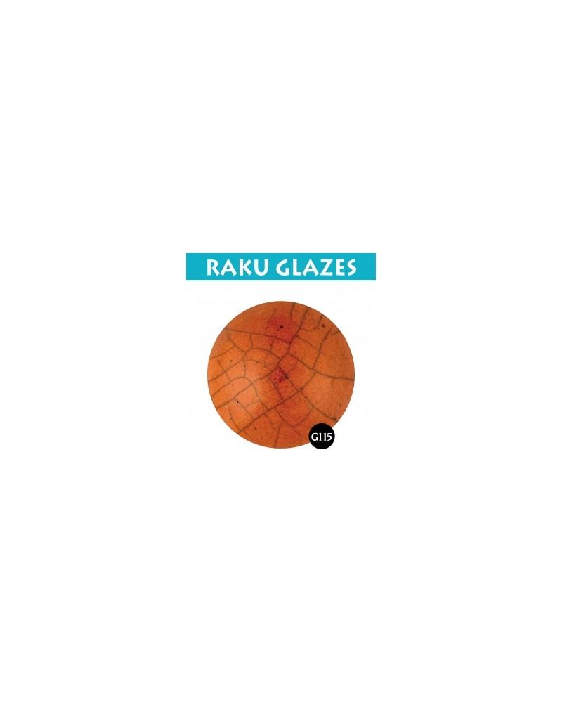 Oranje G115, 0,5 liter raku glazuur