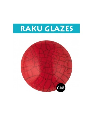 Intensief rood G145, 0,5 liter Raku glazuur
