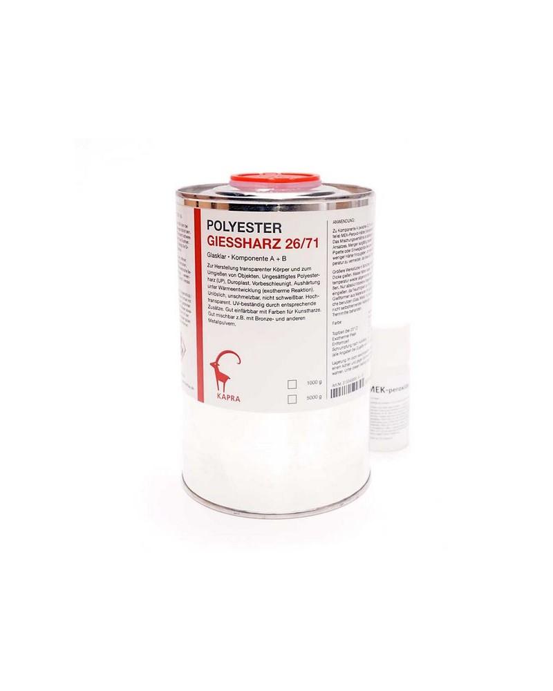 Polyester Giessharz 26/71 + Härter MEK-Peroxid