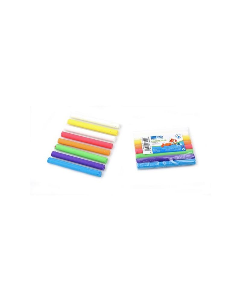 1_Lichte plastiline 8 kleuren 75 gram