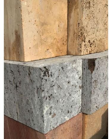 Silbergrauer Travertin Iran Bildhauerstein_3