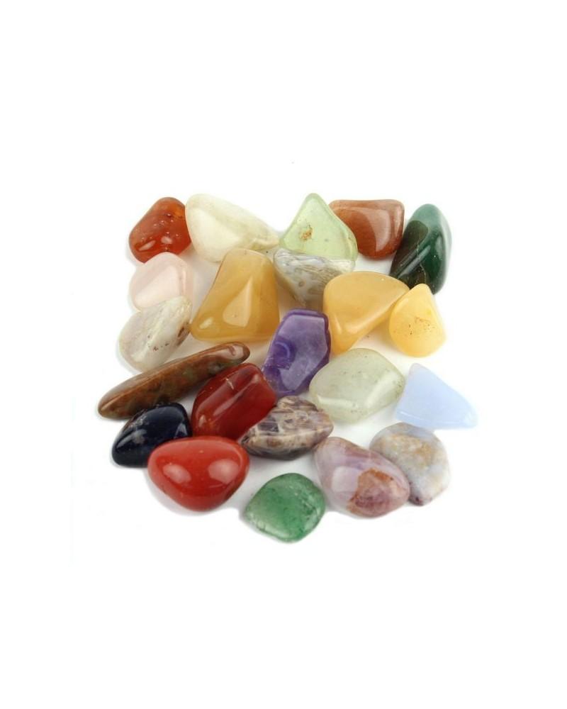 Edelsteentje klein, gepolijst div kleuren (zakje ca.100gr)