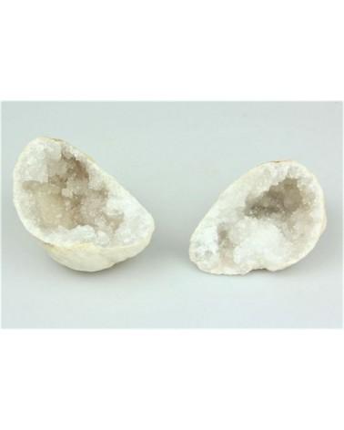 Sterrenkwarts geode middelgroot wit, 2 helften (stuk)- Marok
