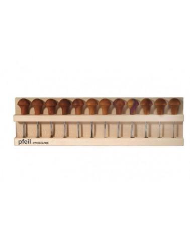 Linoleumgutsen set 12 gutsjes B*
