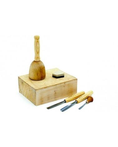 Beginnersset houtbeeldhouwen set los: € 84,19 nu: