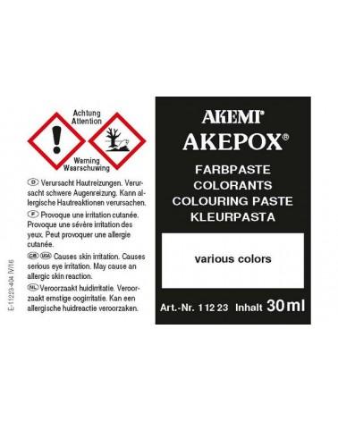 Gevaar AKEPOX kleurpasta