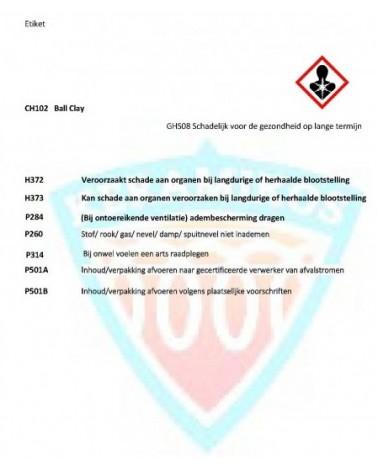 Ball Clay (Al2O3 - 2SiO2 - 2H2O / mg 259)