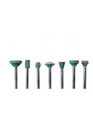 Si-Ca slijpstiften 7 stuks  3,2 mm schacht