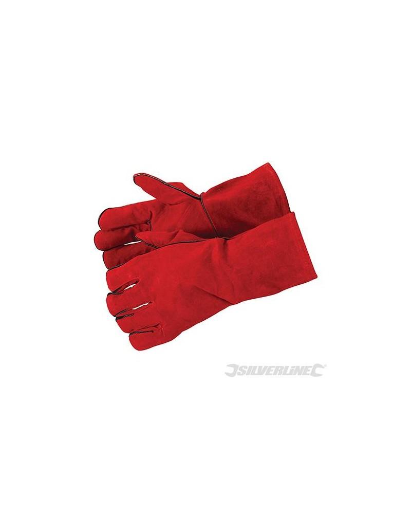 Raku/Lashandschoen Rundleer rood