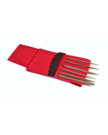 Nadelraspel handgehauen Set  6 Stück 14 cm