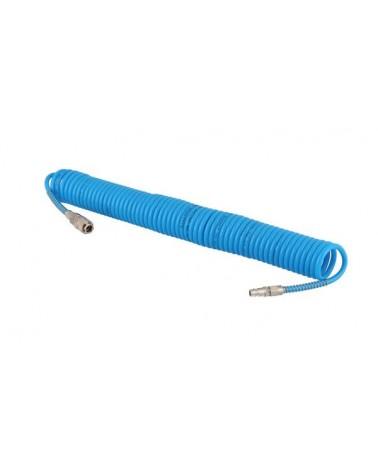 Slang -spiraal- 10m 8mm. met snelkoppeling en tule