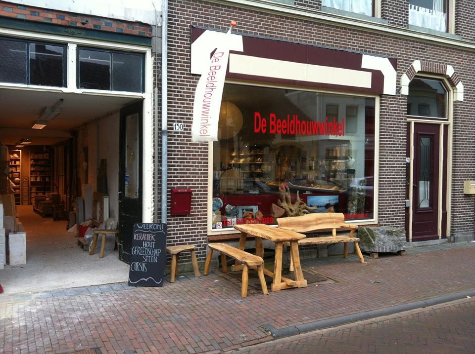 Vooraanzicht Beeldhouwwinkel Zutphen vanaf straat